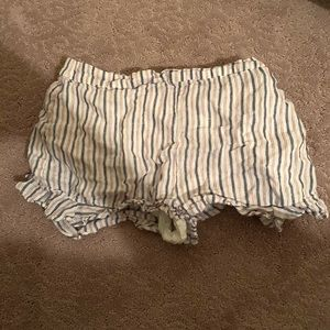Forever 21 striped flowy shorts